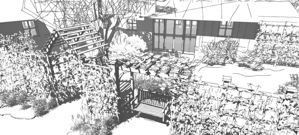 Optimizing SketchUp Performance. Model with Sketchy Edges and Shadows.