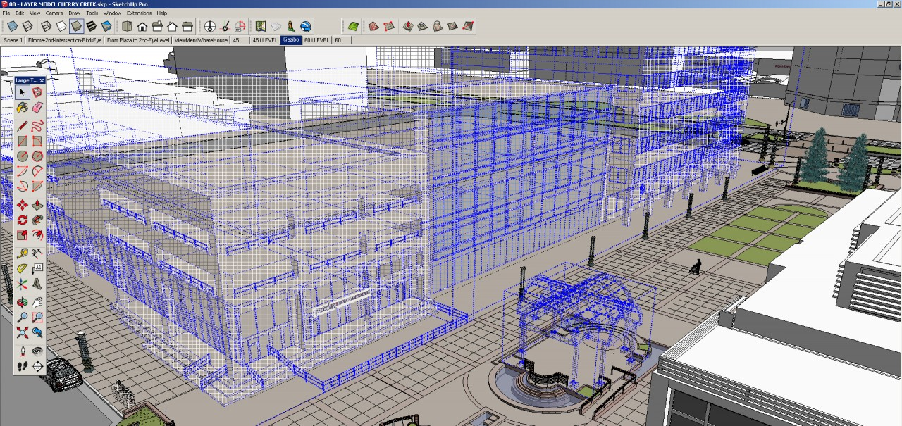 Optimizing SketchUp performance. So much hidden geometry here...