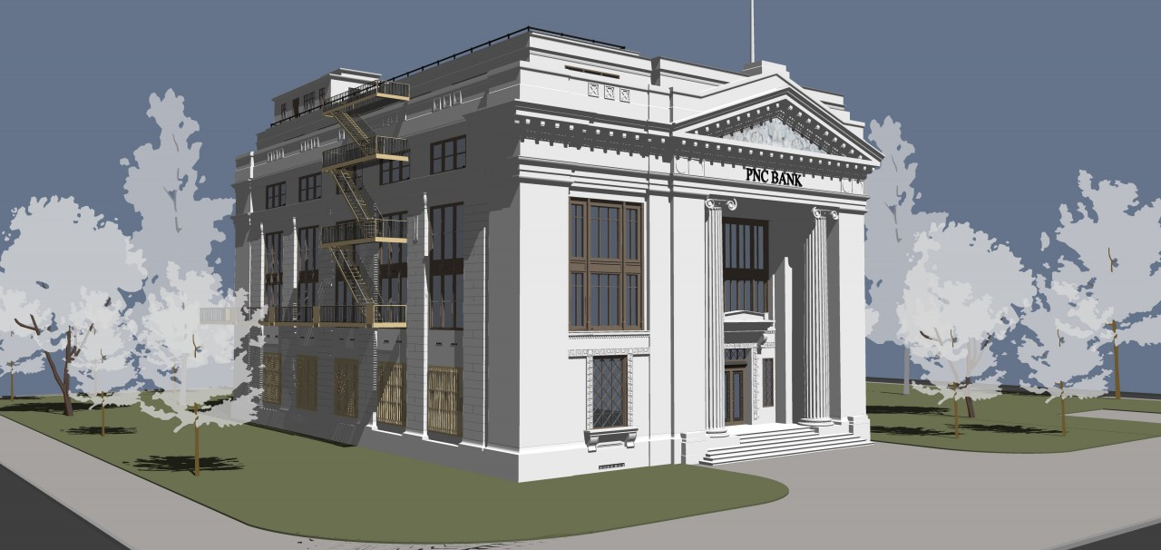 SketchUp graphics and styles - Final images with shadows on
