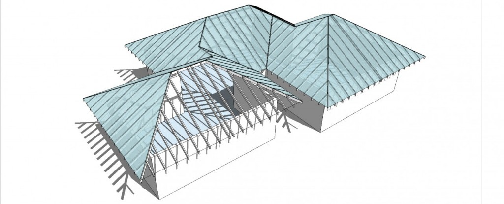 1001bit tools Completed structure and roof framing
