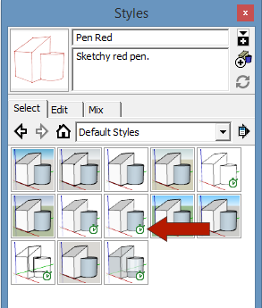 sketchup graphics and styles FastStyles