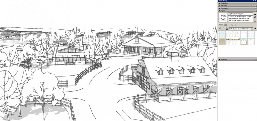 sketchup graphics and styles Light Grey Free Style