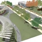 Park Pergola Design Curved-Canopy