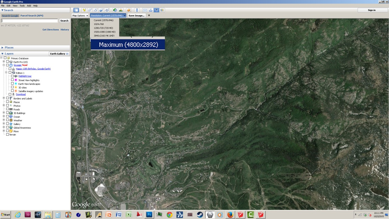 SketchUp Skelion Extension. Download the high rez aerial from Google Earth Pro
