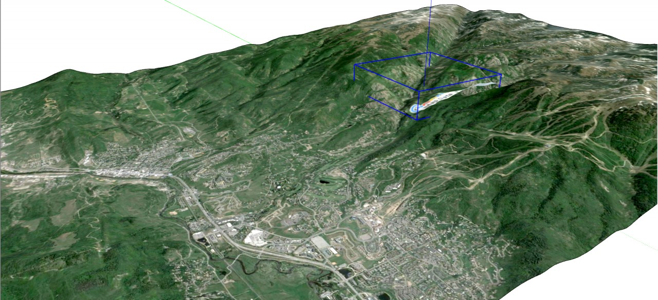 SketchUp Skelion Extension. High resolution terrain and aerial in SketchUp