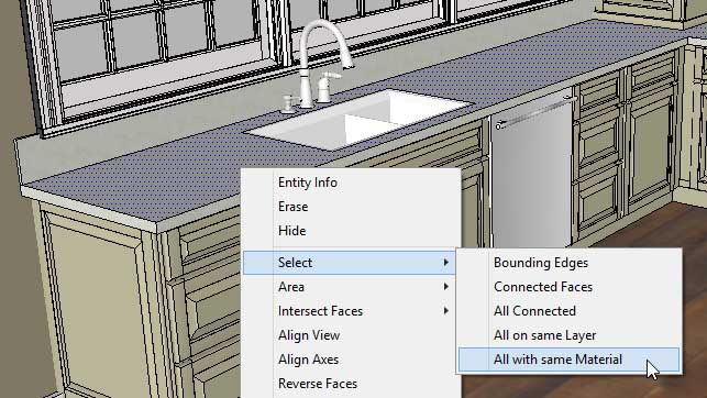 Sketchup Groups and Materials Kitchen Counter 06