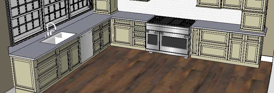 Sketchup Groups and Materials Kitchen Counter 07