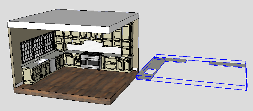 Sketchup Groups and Materials Kitchen Counter 10