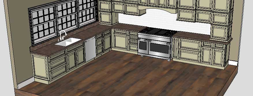 Sketchup Groups and Materials Kitchen Counter 14