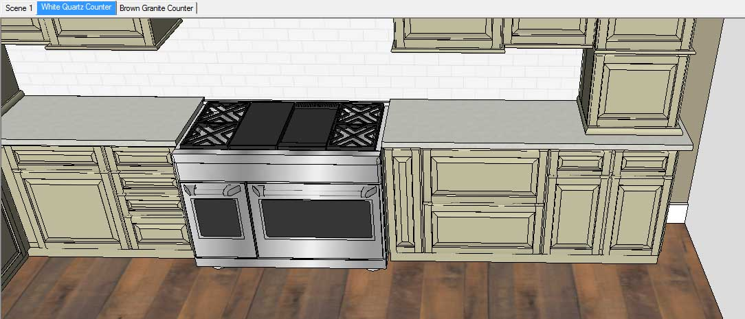 Sketchup Groups and Materials Kitchen Counter 15