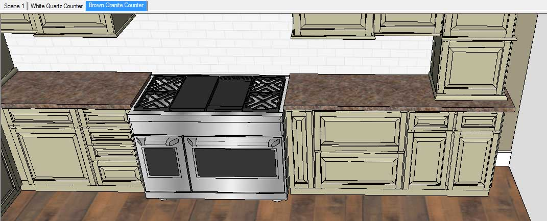 Sketchup Groups and Materials Kitchen Counter 16