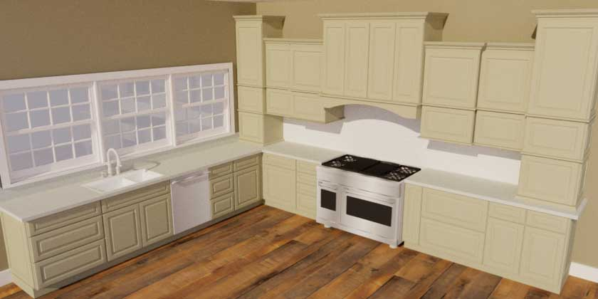 SketchUp Groups and Materials Kitchen Render010009