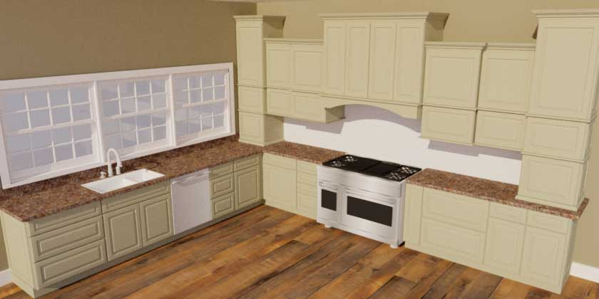 SketchUp Groups and Materials Kitchen Render010010