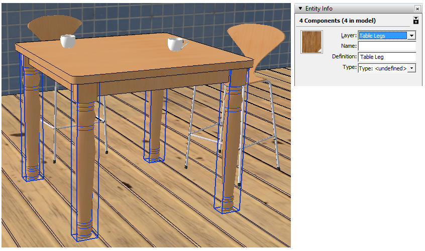 Sketchup Layers Groups Components 07a