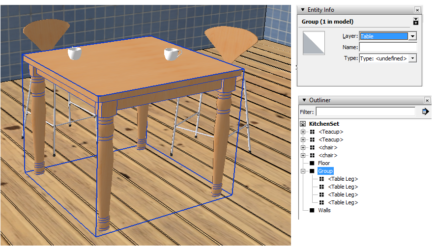 Sketchup Layers Groups Components 09a