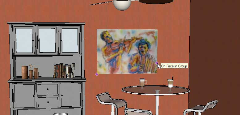adding wall art in sketchUp - Posters03
