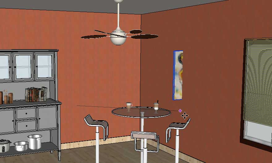 adding wall art in SketchUp Posters09