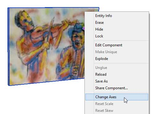 adding wall art in SketchUp Posters 13