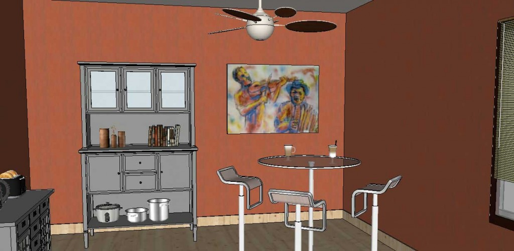 adding wall art in SketchUp Posters 17a