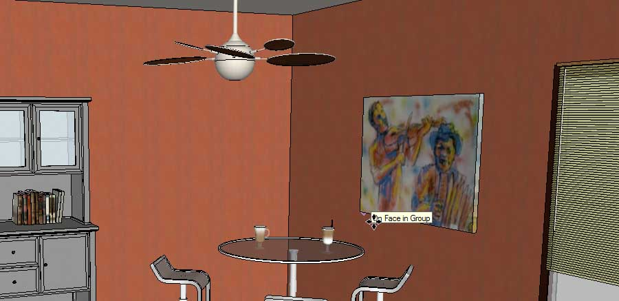 adding wall art in SketchUp Posters17b