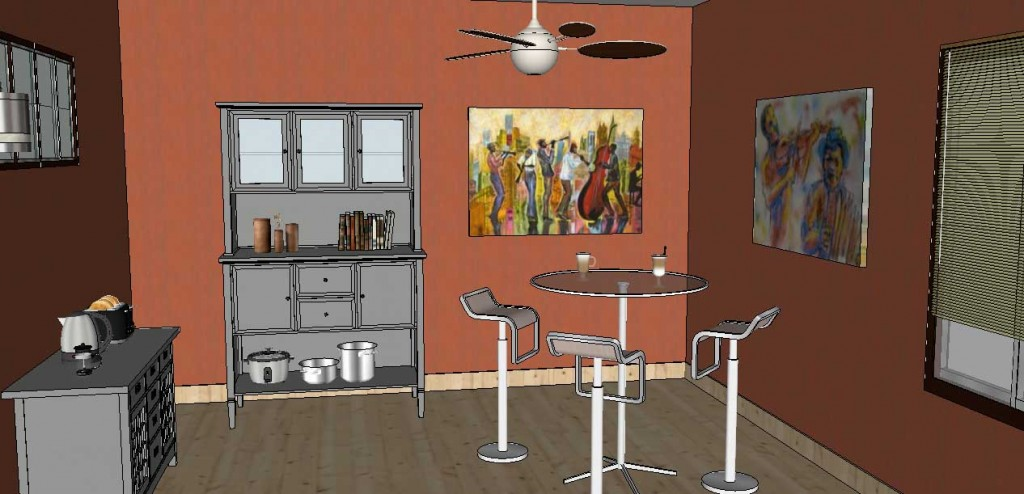 adding wall art in SketchUp Posters 26