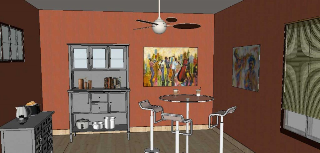 adding wall art in SketchUp Posters 27