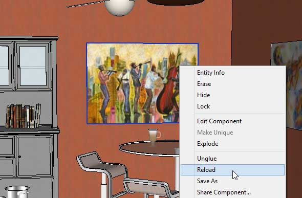 adding wall art in SketchUp Posters 36