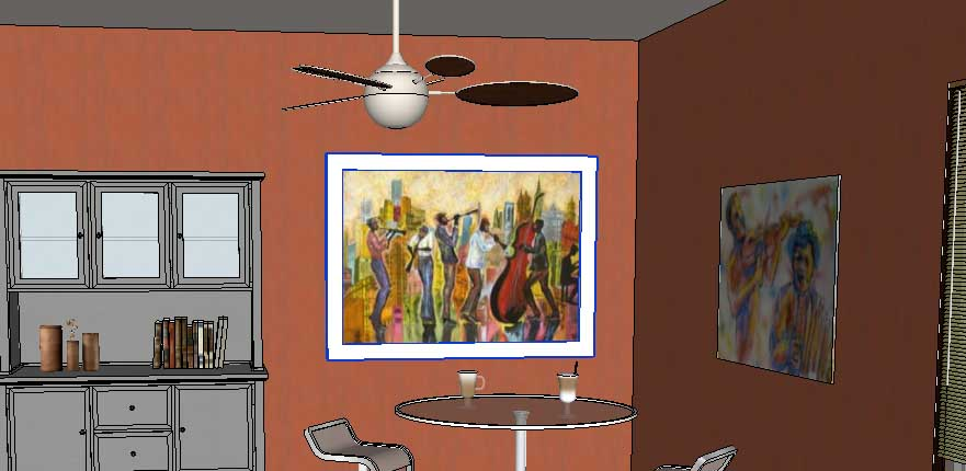 adding wall art in SketchUp Posters 37 - Daniel Tal