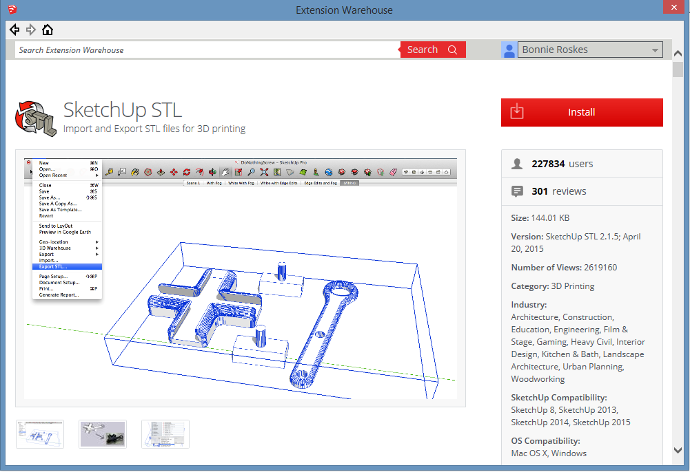 SketchUp STL Extension: Part 1 - Model Export - Daniel Tal