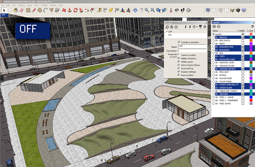 SketchUp Layers 01 - Off Scene