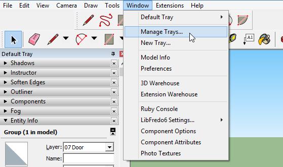SketchUp 2016 PC Trays, Windows, and Shortcuts - Daniel Tal