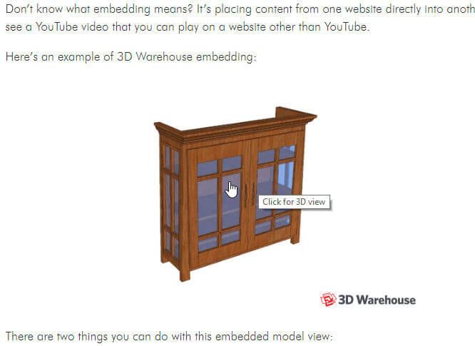 3D Warehouse Models: Part 3 – Embedded 3D Viewer - Daniel Tal